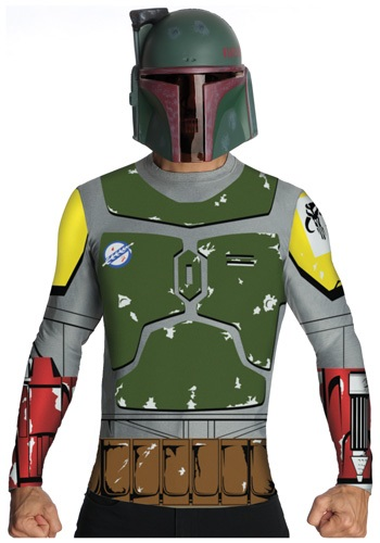 Mens Boba Fett Top and Mask