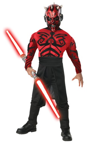 Kids Deluxe Muscle Chest Darth Maul Costume