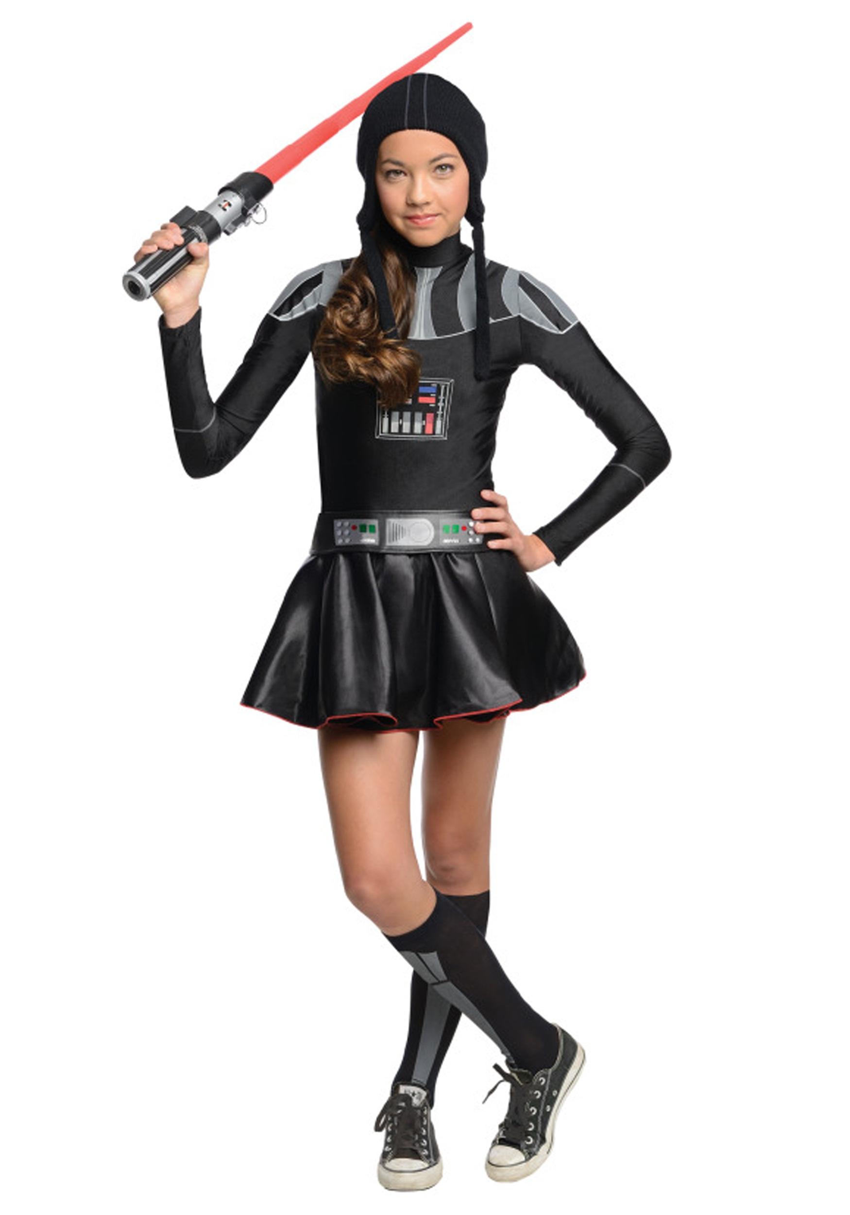 Darth Vader Tween Girls Costume