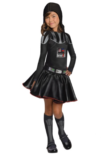 Girls Darth Vader Dress Costume