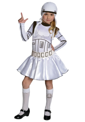 Girls Stormtrooper Dress Costume