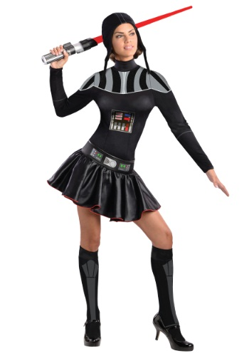 Womans Darth Vader Dress Costume