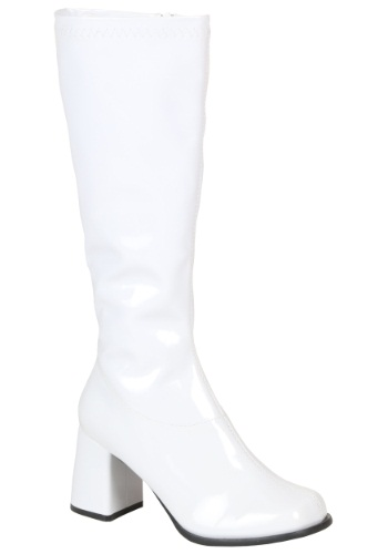 Sexy White Knee High Boots