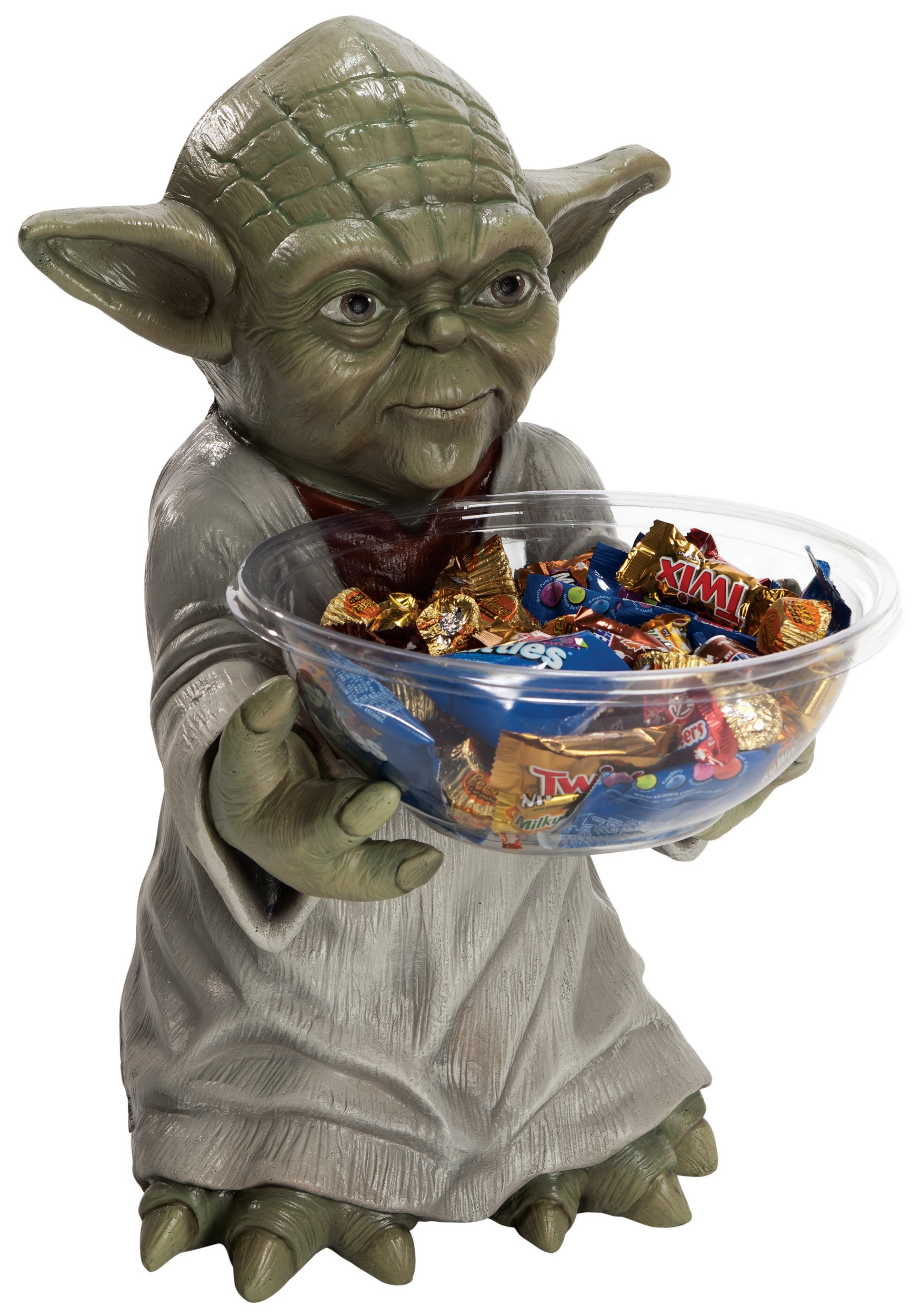 yoda halloween candy bowl holder - yoda decorations, star wars
