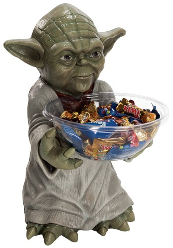 Yoda Halloween Candy Bowl Holder