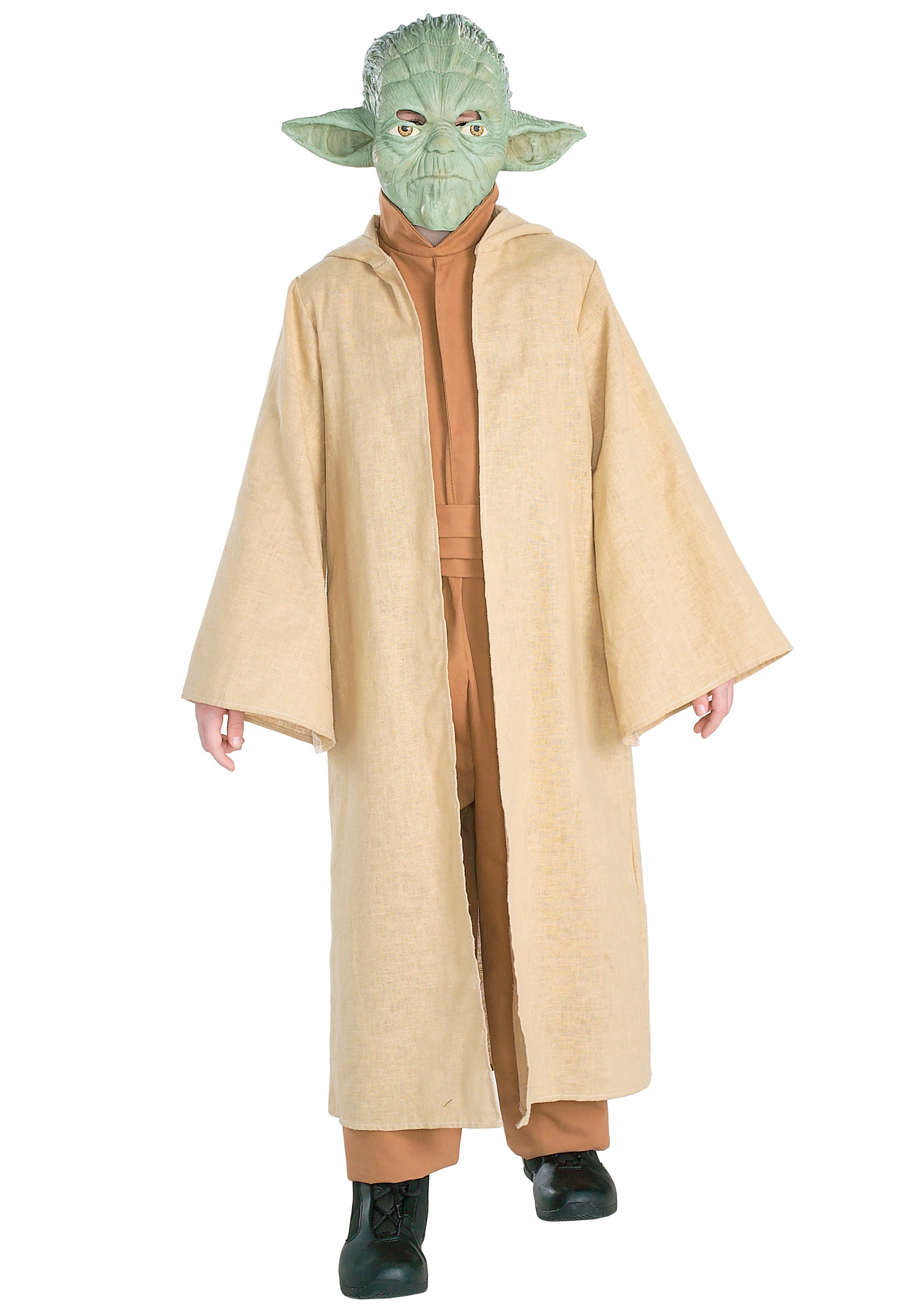 Yoda 3//4 Vinyl Mask Jedi Master Costume Accessory Kids Star Wars Halloween