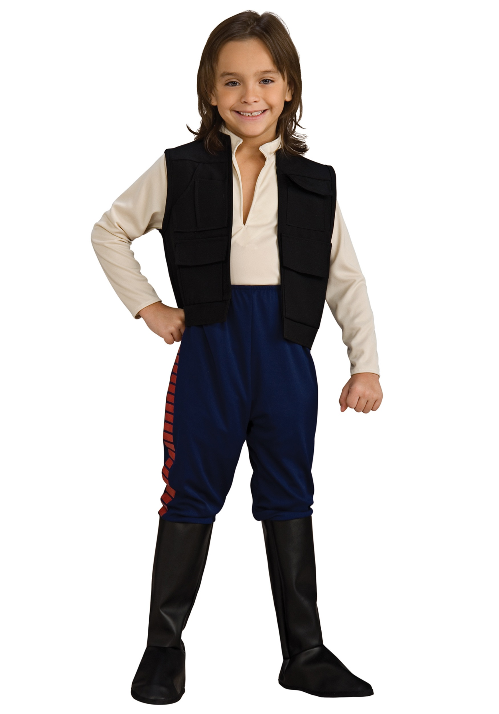 Deluxe Kids Han Solo Costume - Child Star Wars Halloween Costume