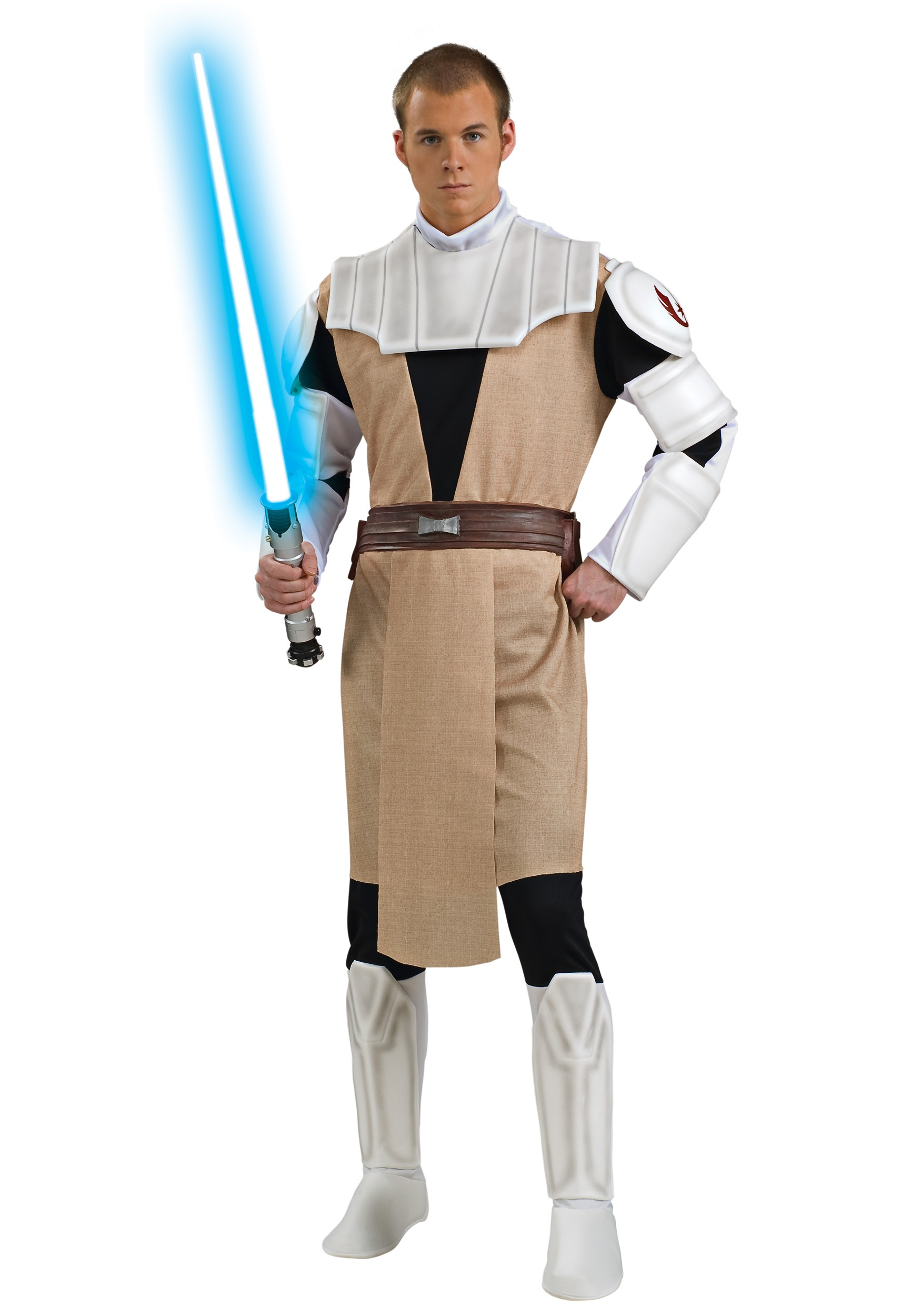 deluxe adult obi wan kenobi costume star wars halloween. Black Bedroom Furniture Sets. Home Design Ideas